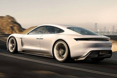 ELBIL: Med dette konseptet vil Porsche utfordre Tesla.