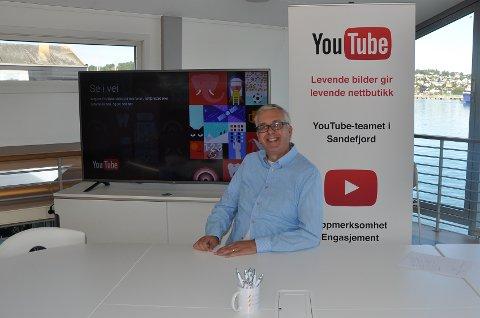 NETTVIDEO: Asle Skarpenglad satser på videodelingstjenesten YouTube.