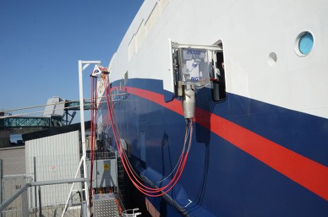 LANDSTRØM: I følge selskapet reduseres CO2-utslippet med 1.900 tonn i året.