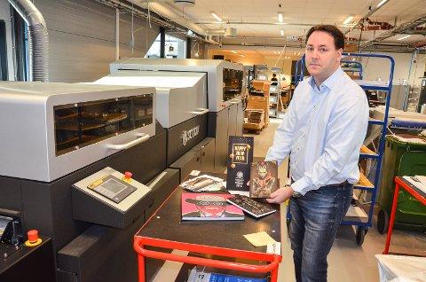 LEDENDE: Eirik Andersen (39) leder et av de fremste bedriftene i trykkeribransjen i Norge.