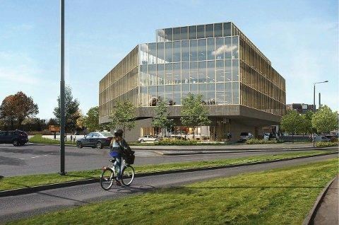 PLANEN: Slik ser utbygger for seg kontorbygget på Kilen.