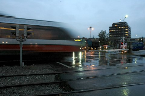 Rørosbanen, her ved Tynset stasjon.