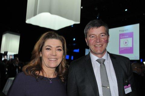 I OSLO: Trond Vilhelm Lund sammen med NHO-sjef Kristin Skogen Lund.