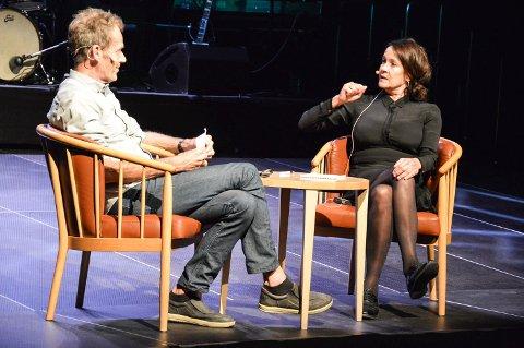 STJERNELAG: Litteraturfest Røros samler litt av et stjernelag hvert eneste år. Under åpningen torsdag ble blant annet Vigdis Hjorth intervjuet av Trygve Lundemo.