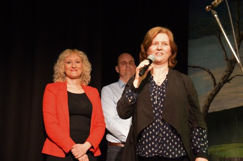 VINNER: Gro Kjelleberg Solli vant Os kommunes kulturpris for 2020. Prisen ble delt ut under 8. mars-arrangementet i Dalsbygda samfunnshus, siste dagen i Vintervukku.
