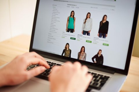TOLLGRENSE: En kvinne ser på tilbudene på en utenlandsk nettportal. Foto: Robert Schlesinger, NTB scanpix
