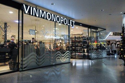 ØKNING: Det mestselgende Vinmonopolutsalget i Follo ligger på Vinterbro senter. I første kvartal av 2021 solgte utsalget 232.202 liter alkohol. Det er en økning på 31 prosent i forhold til første kvartal 2020.
