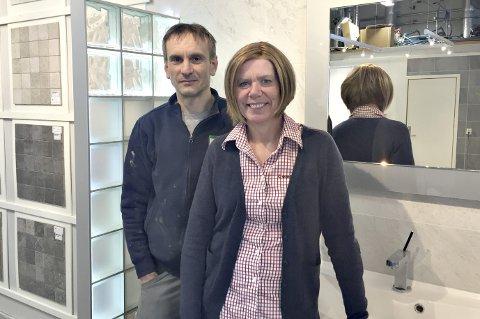 Samarbeid: Alen Mahmutovic og Eva Stølan åpner flisbutikk på industriområdet