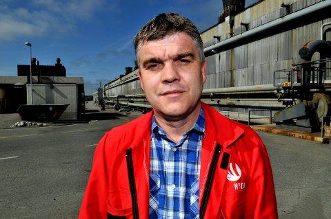 BEKYMRET: Hovedtillitsvalgt i Norsk Hydro, Sten Roar Martinsen