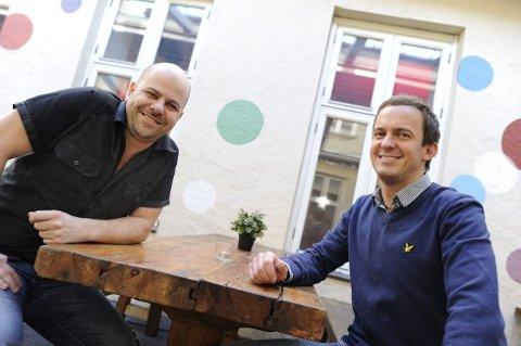 Thomas Borgvang (til venstre) og Chris Collings.