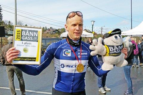 TILBAKE I GIL: Per Eskeland skal sykle for Gjerstad IL etter to sesonger i Kristiansand CK. Her fra seieren i Bånn Gass forrige sesong.