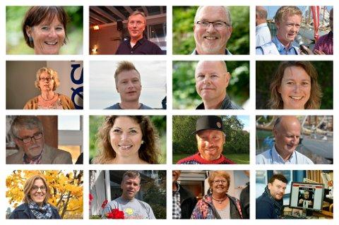 Et lite utvalg av representantene som vil ha fast plass i bystyret de neste fire åra.