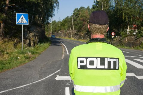 Politiet gjennomførte lørdag en fartskontroll på veien mellom Krana og Frydendal. Dette bildet stammer fra en tidligere kontroll.