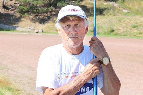 MEDALJEGROSSIST: Kjell Hilmar Sagmyr tok nye NM-medaljer på Modum fredag og lørdag. Her fra en sak i 2014.