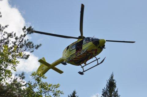 BEVISSTLØS: Gutten ble funnet bevisstløs og ble sendt med luftambulanse til Sørlandet sykehus Kristiansand.