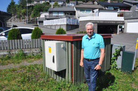 SKUFFET: Sverre Rafoss er skuffet over Agder Energis beslutning om å ikke betale utgiftene for arbeidet.