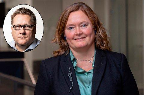 HØYREBRÅK: Eirik Mosveen (innfelt), politisk redaktør i Avisa Oslo, kommenterer bråket i Oslo Høyre, etter at Anne Haabeth Rygg ble valgt som ny gruppeleder tidligere denne uka.