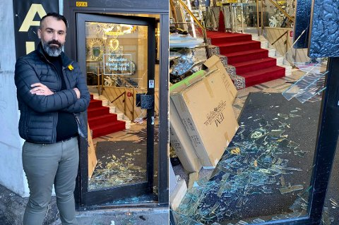 INNBRUDD: Rabar Ali M. har drevet IFM Møbler i Lybekkergata siden i fjor sommer. Første uka han må holde koronastengt brøt en mann seg inn i butikken.
