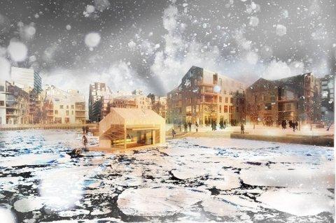 SNART FERDIG: Siste byggetrinn med 90 boliger i Vannkunsten står for tur, før prosjektet i Bjørvika er ferdig.