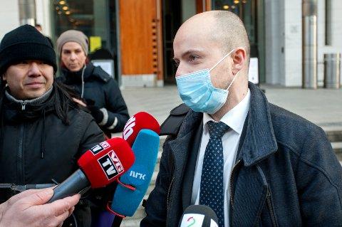 FORSVARER: 16-åringens forsvarer, advokat Andreas Berg Fevang, har begjært lukkede dører i rettssaken som starter 18. mai.