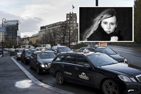 Aina Jakobsen (innfelt) er glad en taxisjåfør var i nærheten og kunne hjelpe henne bort fra en trakasserende guttegjeng for åtte år siden.
