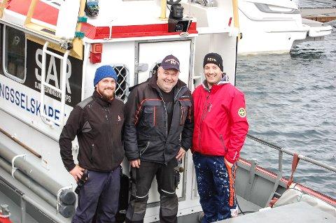 Kim Andre Hope, Hugo Leirvåg og Bertil Isaksen.
