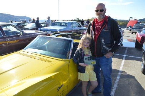 Denne bilen har skapt mange gode minnar for familien Haugen.