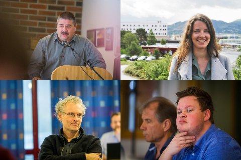 Både Ståle Hauge (Ap), Malin Andvik (KrF), Sveinung Toft (V) og Thomas Larsen (H) deltok i debatten om utbygginga av trafostasjon i Lonena.