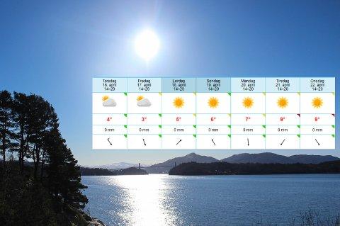 GLADMELDING: Etter torsdag blir det sol og blå himmel i Nordhordland.