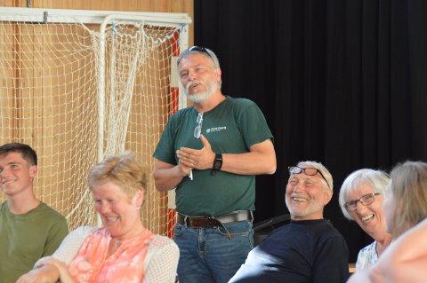 Arnold Matre var ein av dei 55 personane som stilte på folkemøtet onsdag.