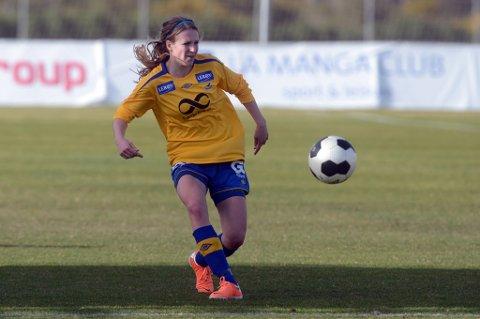 Camilla Åseng fra Bodø legger fotballskoene på hylla. Etter 141 kamper i Toppserien for damer for Trondheims/Ørn er det nå slutt. Foto: Stian Høgland