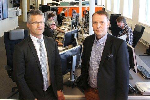 Advokat Trond Hatland mener avisa har gode sjanser i Strasbourg. Her sammen med sjefredaktør Jan-Eirik Hanssen i Avisa Nordland.