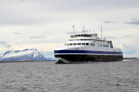 """""""Landegode"""" på tur inn til Bodø fra Moskenes. Statens vegvesen vil beholde Moskenes som anløp."""