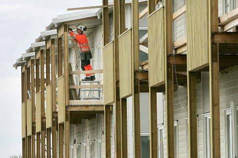 Boligbyggingen går for fullt, men det er få registrerte prosjekter etter sommeren 2021.