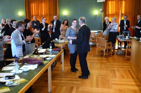 Også Indra Grepp (Ap) hadde sitt siste bystyremøte, etter fire år og en periode i bystyret i Bodø.