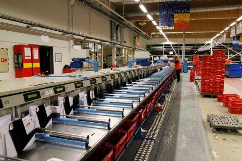 EN AV TRE: Bodø terminal blir en av de tre brevterminalene etter omstillingen i 2018.