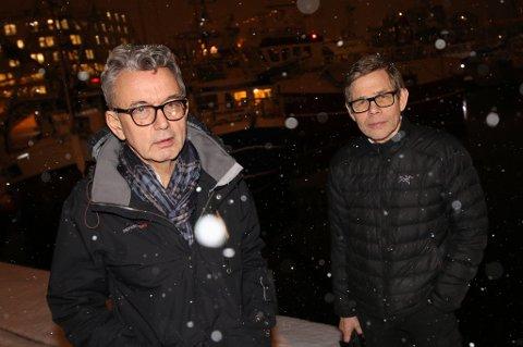KOMPANJONGER: Ole Johannes Monsen og Per I. Aronsen har væært ute en vinternatt før.