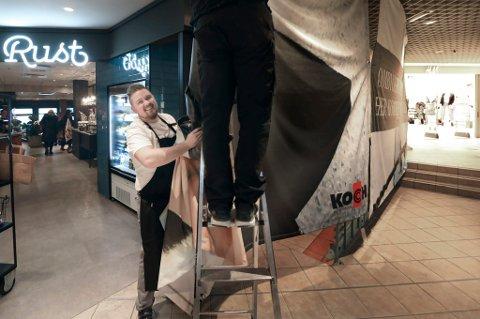 Daglig leder Svein Kristian Malin hos kafé Rust i Koch-senteret. Arkivfoto.