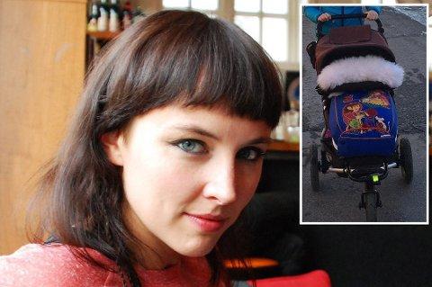 Anette Tunheim Jakobsen fikk frastjålet barnevogn og en unik saueskinnspose fra bilen som sto parkert utenfor huset.