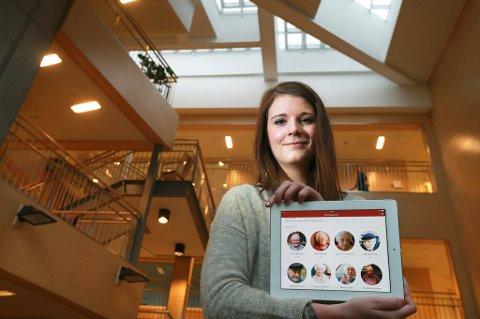 SUKSESS: Johanne Viksaas, gründer av appen Memoria og daglig leder i selskapet MinMemoria. Hun har ett kontor i Bodø og ett kontor i Trondheim hvor hun og hennes to kolleger jobber med markedsføring, utvikling og alt som hører med.
