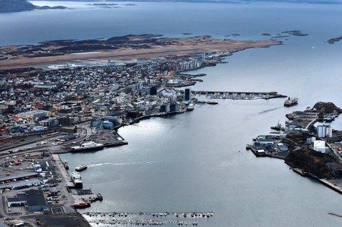 Flyfoto av Bodø By.