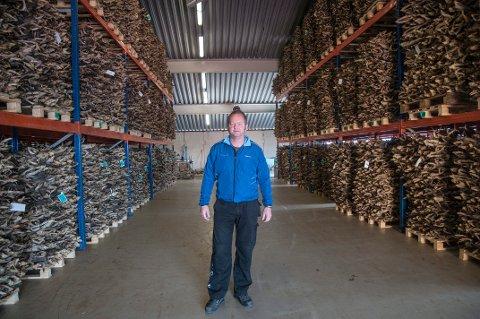 Styreleder Gøran Greger forteller at  John Greger AS på Røst skal sende 300 tonn med tørrfisk til Italia i år.