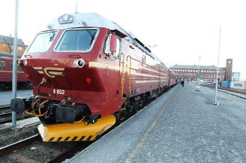 Forsinket: Togene på Nordlandsabanen kan være sent ute onsdag ettermiddag.