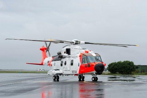 Bildet viser et AW101-helikopter som gjestet Sola i juni i fjor.