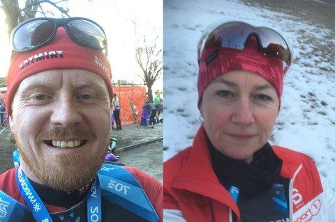 FULLFØRTE: Rune Jørgensen og Hege Kristin Aune Jørgensen fullførte Marcialonga sammen på tiden 6:22 timer.
