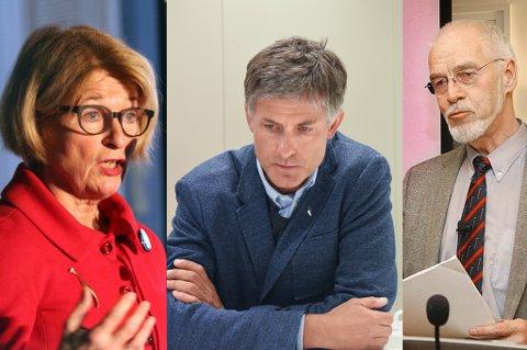 Anne Husebekk er rektor ved Universitetet i Tromsø. Tor Ingebrigsten er avgått direktør ved UNN. Joahn Petetr Barlindhaug var styreleder ved UNN i 2007.