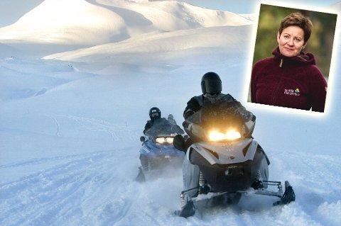 Bekymret: Siri Meland er fagsjef samfunnskontakt i Norsk Friluftsliv. Hun er bekymret over at 1 av 4 velger å kjøre ulovlig på snøscooter.
