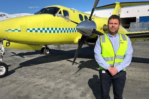 Frank Wilhelmsen, direktør i Lufttransport, er glad for støtten fra befolkningen i landsdelen.