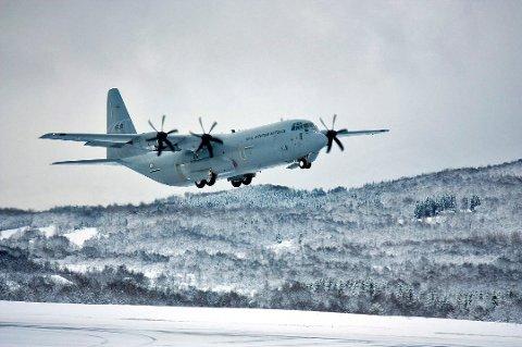 Ulykke: Det var et fly av denne typen, et Lockheed Martin C-130 Hercules transportfly, som kræsjet i Kebnekaise 15. mars 2012. Dette er ikke selve ulykkesflyet, og bildet er tatt ved en tidligere anledning.