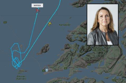 Kommunikasjonssjef Catharina Solli i Widerøe er opprørt etter at Bodø lufthavn måtte stenge nok en gang på grunn av drone.